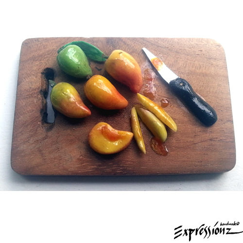Miniature Mangoes with Cutting Board